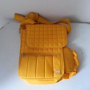 """LUG gold messenger bag - 13"""" x 12"""""""